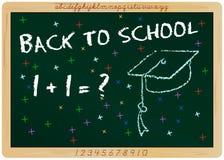 Backt zur Schule lizenzfreie abbildung