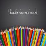 backtoschool-рук-значки Стоковое Изображение RF