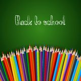 Back to school poster royalty free illustration