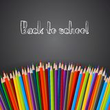 Back to school poster. With crayons, Vector illustration Royalty Free Stock Image