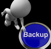 Backup Button For Archives And Data Storing Royalty Free Stock Photos