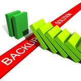 Backup can save you. Fine 3d illustration of metaphoric image show the utility of backup vector illustration