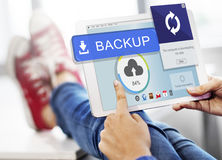 Backup Cloud Upload Sync Data Concept Stock Photography
