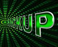 Backup Computer Means Data Transfer And Archive Royalty Free Stock Photo