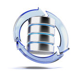 Backup Concept with Database Royalty Free Stock Photos