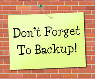 Backup Data Means Fact Storage And Facts Royalty Free Stock Image
