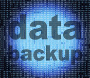 Backup Data Means File Transfer And Archives. Data Backup Indicating File Transfer And Computer Royalty Free Stock Photos