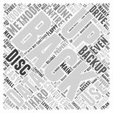 Backup Data Properly word cloud concept  background Royalty Free Stock Image