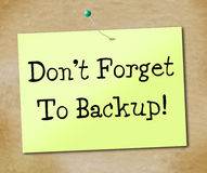 Backup Data Shows File Transfer And Archives Stock Photos