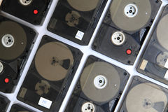 Backup data tape background Stock Photos
