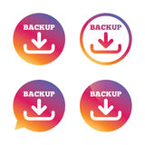 Backup date sign icon. Storage symbol. Royalty Free Stock Image