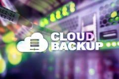Backup della nuvola Prevenzione degli infortuni di dati del server Sicurezza cyber immagine stock