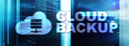 Backup della nuvola Prevenzione degli infortuni di dati del server Sicurezza cyber fotografia stock libera da diritti