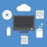 Backup Device. Technology Concept Illustration vector illustration