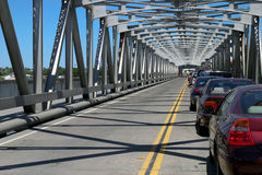 Backup di traffico sul ponte Fotografia Stock
