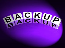 Backup Dice Mean Store Restore or Transfer Documents or Files Royalty Free Stock Photos