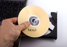 Backup DVD stockbilder