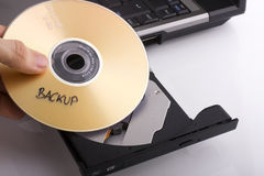 Backup DVD Royalty Free Stock Photos