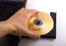 Backup DVD Royalty Free Stock Photography