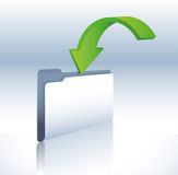 Backup folder. Illustration of a download folder and data transfer Royalty Free Stock Photos