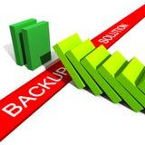 Backup kann Sie sichern Stockfotografie