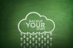 Backup la vostra roba sulla lavagna Fotografie Stock Libere da Diritti