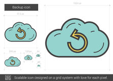Backup line icon. Royalty Free Stock Images