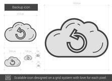 Backup line icon. Stock Image