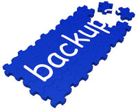 Backup Puzzle Showing Safe Stock Photography