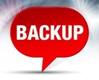 Backup Red Bubble Background royalty free illustration