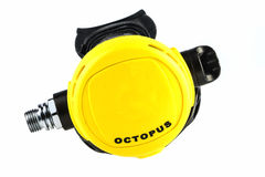 Backup regulator for diving. Octopus diver, backup regulator for diving Stock Photo