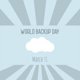 Backup and restore data cloud Stock Images