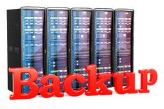 Backup Server concept. 3D rendering. Isolated on white background Royalty Free Stock Image