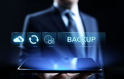 Backup Software Application Database internet technology concept. royalty free stock photography