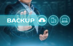 Backup Storage Data Internet Technology Business concept.  Royalty Free Stock Photography