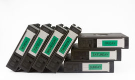 Backup tapes Stock Photos