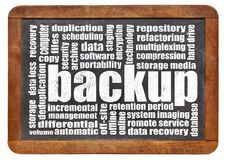 Backup word cloud Royalty Free Stock Photos