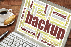 Backup word cloud Royalty Free Stock Photography