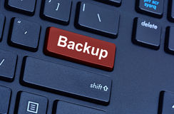 Backup word on computer keyboard button Royalty Free Stock Images
