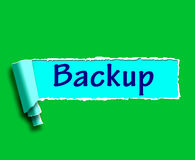 Backup Word Shows Data Copying Or Backing Up Stock Photography
