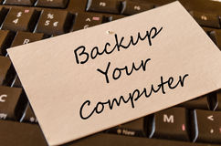 Backup your computer text concept royalty free stock photography