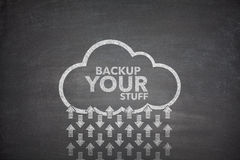 Backup your stuff on Blackboard royalty free stock photography