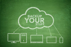 Backup your stuff concept Stock Images
