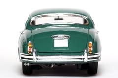 Backview 1959 del coche del juguete de la escala del metal de la marca 2 del jaguar Imágenes de archivo libres de regalías