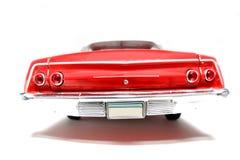 Backview 1962 del fisheye dell'automobile del giocattolo della scala del metallo della Chevrolet Belair #2 Fotografia Stock
