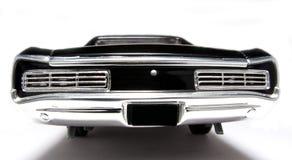Backview 1966 del fisheye dell'automobile del giocattolo della scala del metallo della Pontiac GTO Fotografie Stock