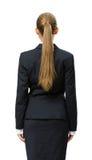 Backview av affärskvinnan royaltyfri fotografi