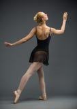 Backview of dancing ballerina royalty free stock photos
