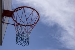 Backview de cercle de basket-ball image libre de droits