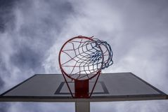 Backview de cercle de basket-ball photo stock